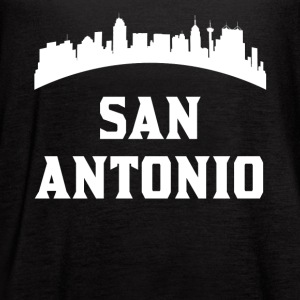 Vintage Style Skyline Of San Antonio TX - Women's Flowy Tank Top by Bella