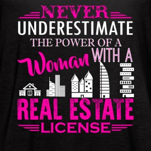 Real Estate License Shirt - Women's Flowy Tank Top by Bella