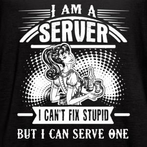 I Am A Server Shirts - Women's Flowy Tank Top by Bella