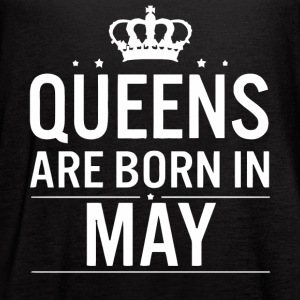 Queens are born in May woman shirt - Women's Flowy Tank Top by Bella