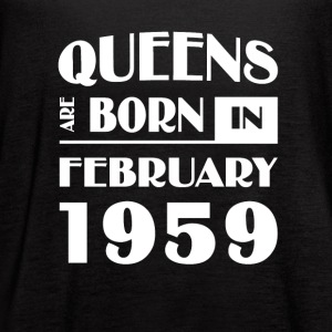Queens are born in February 1959 - Women's Flowy Tank Top by Bella