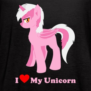 i love my pink fantasy unicorn - Women's Flowy Tank Top by Bella