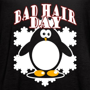 Penguin Bad Hair Day Shirt - Women's Flowy Tank Top by Bella