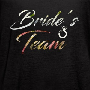 Bride's Team T-Shirt - Women's Flowy Tank Top by Bella