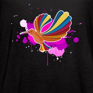 Colorful Hummingbirds Shirt - Women's Flowy Tank Top by Bella