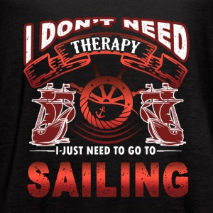 Sailing Therapy Shirt - Women's Flowy Tank Top by Bella