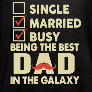 Best Dad In The Galaxy Shirt - Women's Flowy Tank Top by Bella