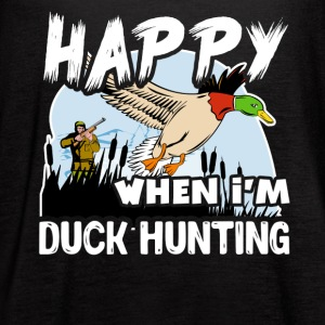 Happy When Duck Hunting Shirt - Women's Flowy Tank Top by Bella