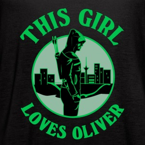 This Girl Loves Arrow. Oliver Queen - Women's Flowy Tank Top by Bella