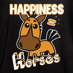 Horses Happiness T-shirt - Women's Flowy Tank Top by Bella