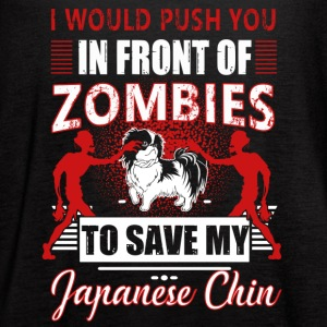 Zombies Japanese Chin Shirt - Women's Flowy Tank Top by Bella