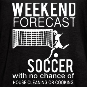 WEEKEND FORECAST SOCCER SHIRT - Women's Flowy Tank Top by Bella