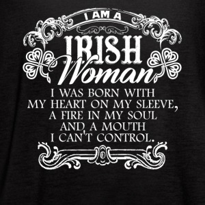 Irish Woman Tshirt - Women's Flowy Tank Top by Bella