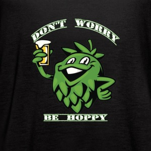 The Beer Dont Worry Be Hoppy - Women's Flowy Tank Top by Bella