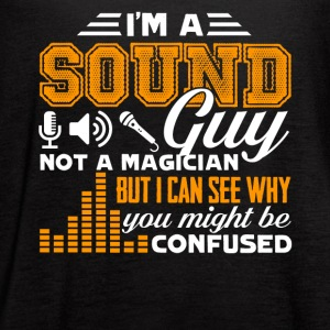 I Am a Sound Guy Not a Magician T Shirt - Women's Flowy Tank Top by Bella