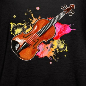 Violin Musical Instrument Tshirt - Women's Flowy Tank Top by Bella