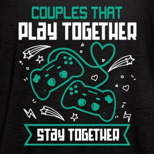 Couples That Play Games Together Shirt - Women's Flowy Tank Top by Bella