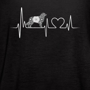 australian shepherd heartbeat - Women's Flowy Tank Top by Bella