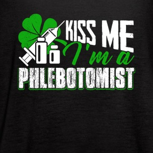 I'm A Phlebotomist Happy St patric's Day - Women's Flowy Tank Top by Bella