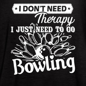Bowling Therapy Shirt - Women's Flowy Tank Top by Bella