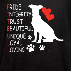 love pitbull shirt - Women's Flowy Tank Top by Bella