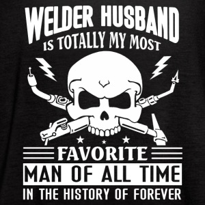 Favorite Welder Husband Shirt - Women's Flowy Tank Top by Bella
