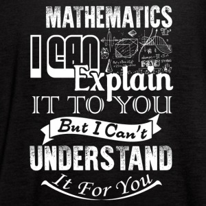 Mathematics Shirt - Women's Flowy Tank Top by Bella