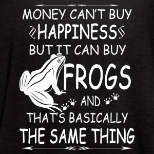 FROGS ARE MY HAPPINESS TEE SHIRT - Women's Flowy Tank Top by Bella