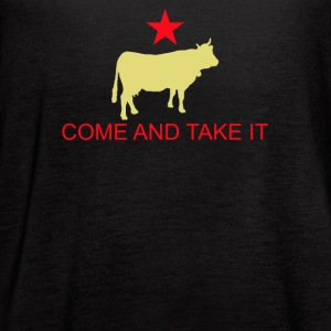 Come And Take It Cow - Women's Flowy Tank Top by Bella