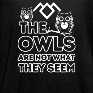 the owls are not what they seem - Women's Flowy Tank Top by Bella