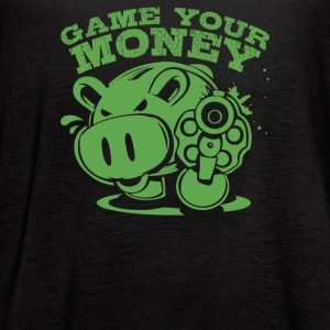 Gimmie Your Money Pig Coin Bank - Women's Flowy Tank Top by Bella