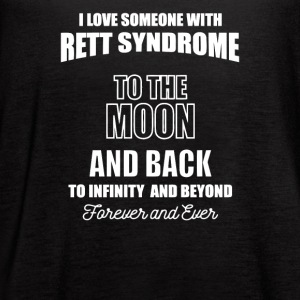 I Love Someone with Rett Syndrome to the Moon - Women's Flowy Tank Top by Bella