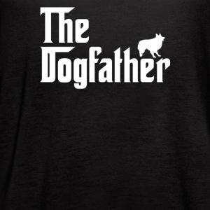The Dogfather Parody Border Collie - Women's Flowy Tank Top by Bella