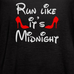 Run Like It's Midnight - Women's Flowy Tank Top by Bella