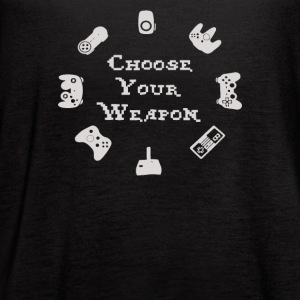 Choose Your Weapon Video Game Controller - Women's Flowy Tank Top by Bella