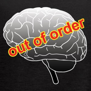 Funny out of order brain drawing - Women's Flowy Tank Top by Bella
