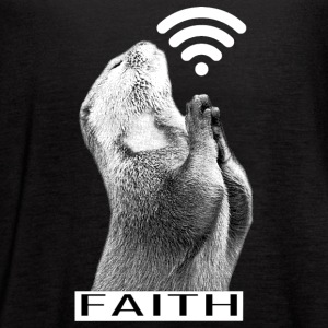 Faith Animal Pray - Women's Flowy Tank Top by Bella