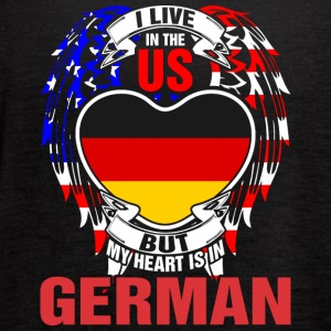 I Live In The Us But My Heart Is In German - Women's Flowy Tank Top by Bella