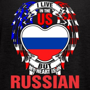 I Live In The Us But My Heart Is In Russian - Women's Flowy Tank Top by Bella