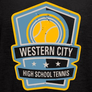WESTERN CITY HIGH SCHOOL TENNIS - Women's Flowy Tank Top by Bella
