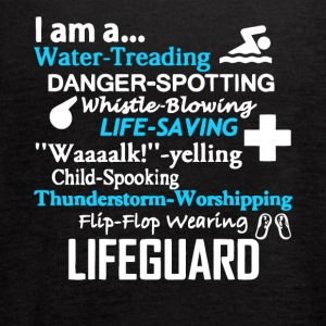 I Am A Lifeguard T Shirt - Women's Flowy Tank Top by Bella