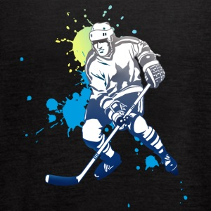 icehockey hockey player ice splash team play off l - Women's Flowy Tank Top by Bella