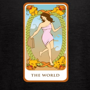 The World Tarot Card Tee Shirt - Women's Flowy Tank Top by Bella
