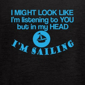 In my head I'm Sailing Funny Sailing Tee Shirt - Women's Flowy Tank Top by Bella
