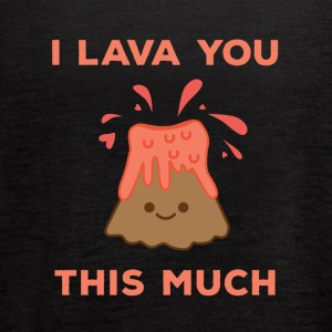 I Lava You This Much Cute Volcano - Women's Flowy Tank Top by Bella