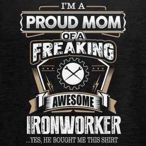 Proud Mom Of A Freaking Awesome Ironworker - Women's Flowy Tank Top by Bella