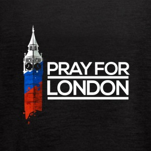Pray For London, Big Ben England Memorial Union UK - Women's Flowy Tank Top by Bella