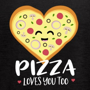 Pizza loves you too - Women's Flowy Tank Top by Bella
