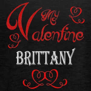 A romantic Valentine with my Brittany - Women's Flowy Tank Top by Bella