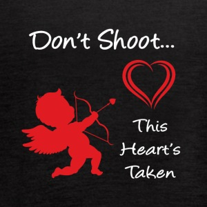 Don't Shoot, This Heart's Taken - Women's Flowy Tank Top by Bella